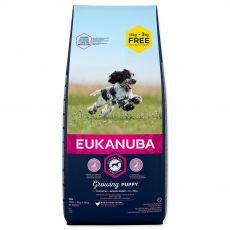 EUKANUBA PUPPY Medium Breed 15kg + 3kg GRATIS