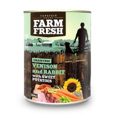 Farm Fresh - Venison and Rabbit with Sweet Potatoes 400g