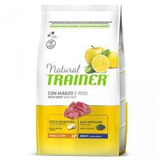 Trainer Natural Small and Toy Adult, Rind und Reis 7kg