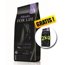 Fitmin FOR LIFE Light & Senior 15+2 kg GRATIS