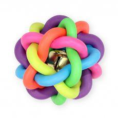 TPR Ball für Hunde mit Glocke - geflochten, 10,5cm