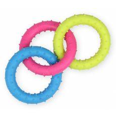 TPR Hundespielzeug - farbige Kreise mit Noppen 18,5cm