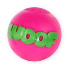 Spielzeug für Hunde - Vinylball mit Aufschrift, guietschend, 8cm
