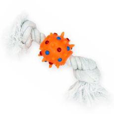 Ball mit Noppen am Baumwollschnur - 25cm
