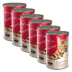 Nassfutter BEWI CAT Meatinis GEFLÜGEL – 6 x 400g, 5+1 GRATIS