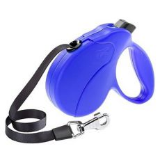 Hundeleine Amigo Easy Small bis 15kg - 5m Gurt, blau