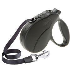 Hundeleine Amigo Easy Small bis 15kg - 5m Gurt, schwarz