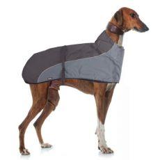 Weste GREYHOUND mit Kragen für Hund, grauschwarz - 60cm