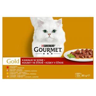 Dose Gourmet GOLD - Fleischstücke in Soße, 12 x 85 g
