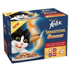 Felix Sensations Sauces - Leckerbissen in Soße, 12 x 100 g