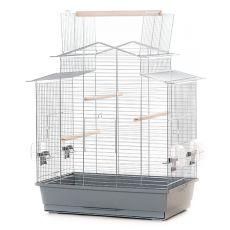 Käfig für Papagei IZA III chrom - 58,5 x 38 x 65 cm