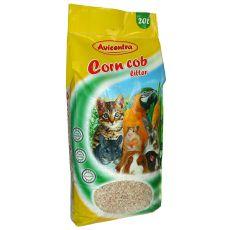 Maiseinstreu Corn Cob Litter, 20 L - fein