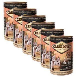 BRIT Carnilove Wild Meat Salmon & Turkey for Puppies 6 x 400 g