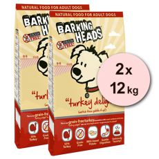 Barking Heads Turkey Delight Grain Free 2 x 12 kg