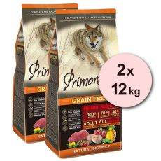 Primordial GF Adult Buffalo & Mackerel 2 x 12 kg