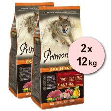 Primordial GF ADULT - Büffel und Makrele 2 x 12 kg