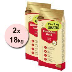 EMINENT GOLD Adult 2 x 15 kg + 6 kg GRATIS