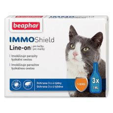 BEAPHAR IMMO SHIELD Line-on KATZE 3 x 1 ml
