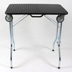 Trimmtisch klappbar mit Rollen 90 x 55 x 85 cm, schwarz