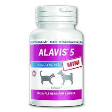 ALAVIS 5 MINI Gelenknahrung für Hunde und Katzen - 90 Tabletten