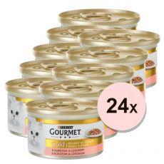 Nassfutter Gourmet GOLD - Lachs und Huhn in Soße 24 x 85g