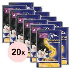 Felix Sensations - Ente und Spinat in Gelee, 20 x 100 g