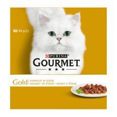 Dose GOURMET GOLD - Stückchen in Soße, 8 x 85g