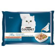Feuchtnahrung GOURMET PERLE Gravy Delight - Fisch, 4 x 85 g