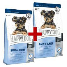 Happy Dog Mini Baby & Junior 4 kg + 4 kg GRATIS