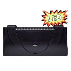 Abdeckung mit Beleuchtung für Aquarien50x25cm LED EXPERT COLOR 10W - GERADE schwarz