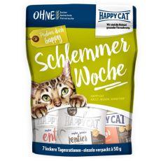 Happy Cat Schlemmerwoche - Nahrung für 7 Tage, 7 x 50 g