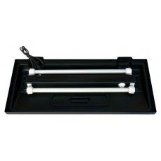 Beleuchtung für ein klassisches Aquarium 150x50cm - schwarz, gerade