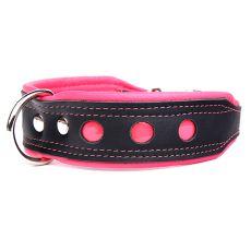 Reflektierendes Halsband Neo, schwarz - pink 4 cm x 38 - 47 cm