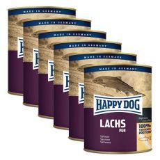 Happy Dog Pur - Lachs 6 x 750 g / Lachs, 5+1 GRATIS