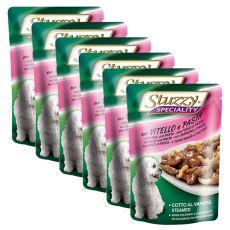 Stuzzy Speciality Dog - Kalb mit Nudeln, 6 x 100 g
