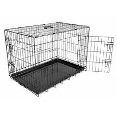 Käfig Dog Cage Black Lux - 2x Türchen, M - 78,5 x 52,5 x 59 cm