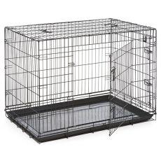 Käfig Dog Cage Black Lux - 2x Türchen, XL - 107,5 x 74,5 x 80,5 cm