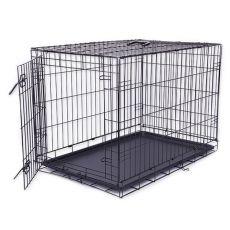 Käfig Dog Cage Black Lux, XXL - 125,8 x 74,5 x 80,5 cm