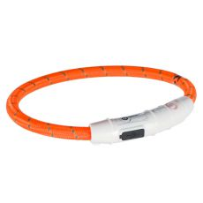 Leuchtendes LED Halsband M-L, orange 45 cm