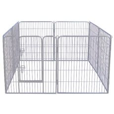 Freilaufgehege Dog Park Grey Lux 8-Element, L - 80 x 80 cm