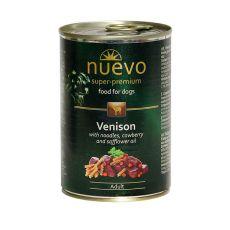 Nassfutter NUEVO DOG Adult Venison Menue 400 g