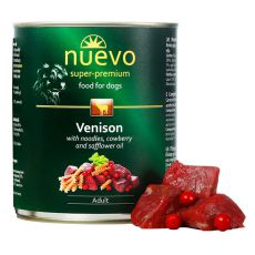 Feuchtnahrung NUEVO DOG Adult Venison Menue 800 g