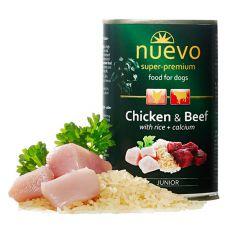 Feuchtnahrung NUEVO DOG Junior Chicken & Beef 400 g