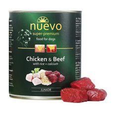 Feuchtnahrung NUEVO DOG Junior Chicken & Beef 800 g