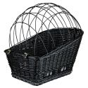 Fahrradkorb mit Gitter für Hunde 35 × 49 × 55 cm