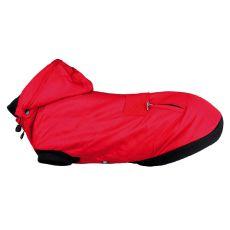 Wintermantel Palermo mit Kapuze für Hunde, rot XS 27 cm