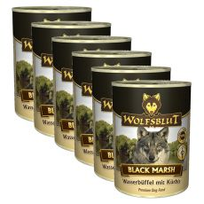 Nassfutter WOLFSBLUT Black Marsh, 6 x 395 g