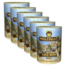 Nassfutter WOLFSBLUT Cold River PUPPY, 6 x 395 g