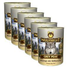 Feuchtnahrung WOLFSBLUT Grey Peak PURE, 6 x 395 g