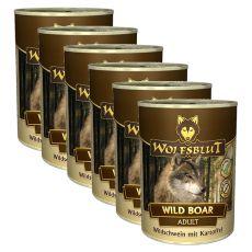 Nassfutter WOLFSBLUT Wild Boar, 6 x 395 g